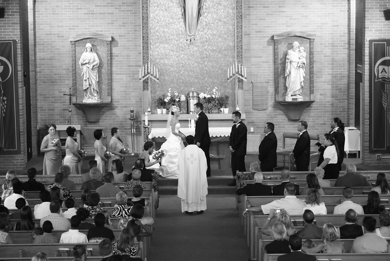 Wedding Ceremony at Elko, NV Catholic Church